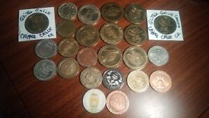 Lot of Collectible Casino Tokens
