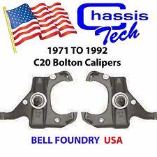 C20 Drop Spindles 1971-1991 Chevy GMC C30 3/4 & 1 Ton Pickup w/ Bolt on Caliper