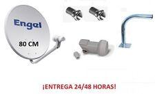 ANTENA SATELITE PARABOLICA 80CM + LNB + SOPORTE GRAN CALIDAD WIFIKIT604