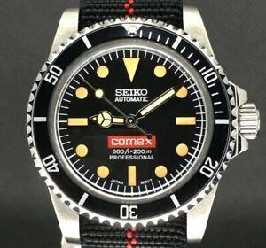 Seiko Mod Submariner Comex Vintage Diver Nh35 5514 Milsub SKX Automatic Sub 5513