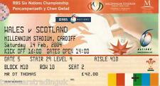 WALES v SCOTLAND (Rugby Union Six Nations 14.2.2004) Used Match Ticket