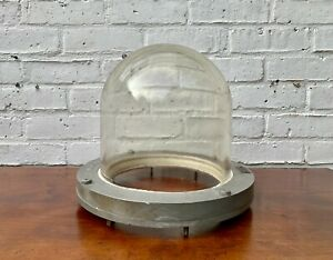 Vintage Bulkhead Light Fitting Glass Dome by Heyes & Co LTD Wigan
