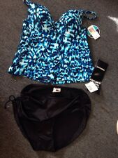 Trim Shaper Size 16 Bottoms Black Maiden Formtank Top Swim Suit 36 B New $100
