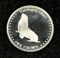 Nightingale Island Coin One Crown 2011 UNC