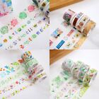 8pcs/Set Roll Washi Sticky Paper Masking Adhesive Tapes DIY Scrapbooking Sticker