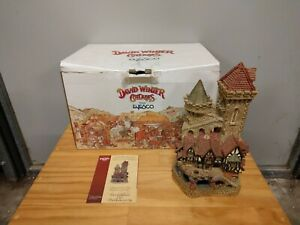 Enesco David Winter Cottages Hereward The Wake's Castle - Limited Edition w/ COA