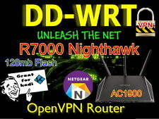 Netgear Nighthawk R7000 AC1900 openvpn WIRELESS WI-FI ROUTER VPN Cavo DD-WRT.