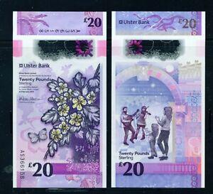 NORTHERN IRELAND - 2019 Ulster Bank £20 Polymer UNC Banknote