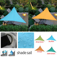 Voile d'Ombrage Protection UV Solaire Waterproof Tendue Parasol Triangulaire 25