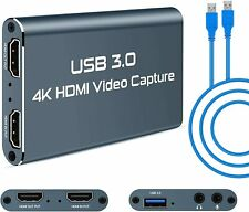 Video Capture Card, 4K USB 3.0 HDMI Capture Device with HDMI Loop-Out 4K 1080P