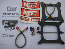 NOS/NITROUS/NX/ZEX/EDELBROCK/ NOS BIGSHOT HOLLEY 4150 PLATE KIT 175-374+HP *NEW