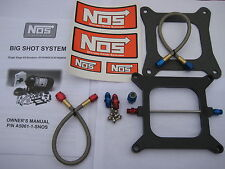 NOS/NITROUS/NX/ZEX/EDELBROCK/ NOS BIGSHOT HOLLEY 4150 PLATE KIT 175-400HP-NEW!