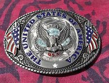 UNITED STATES OF AMERICA BELT BUCKLE NEW EAGLE USA