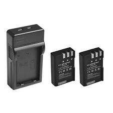 USB Charger+2PCS 1200mAh Battery FOR Nikon D60 D3000 D5000 EN-EL9 EN-EL9A J A2A4