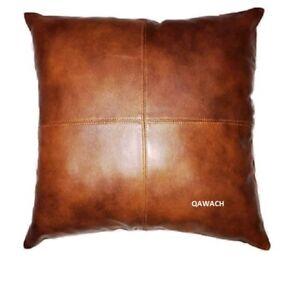 Qawach 100% Lambskin Leather Pillow Cover Decorative Throw Cushion Home Decor