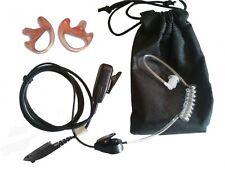MOTOROLA GP340 covert earpiece, twin earmoulds & carry pouch package