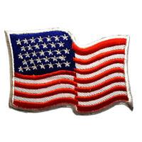 Toppe termoadesive - USA America Army - bianco/rosso - 7,9x5,5 Patch Toppa