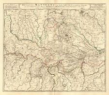"""""""DUCATUS Mantuani"""" DUCATO DI MANTOVA. VERONA CREMONA PARMA Reggio. MAPPA HOMANN 1735"""