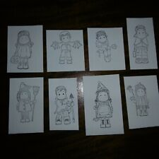 2.HALLOWEEN* 8 Different Black on Cards*Birthday*TOPPERS