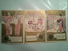 "#ORIGINAL VICTORIAN Lot of 3 Trade Card 4.5 x 2.75"" J&P. COATS Teeter Todder"