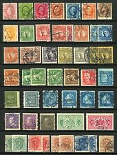 Sweden #39-#037 2c - $1.00 1885-1926 Small Used Lot from Ancient Album 50 items