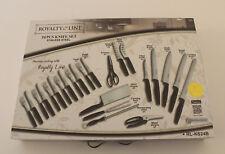 Royalty Line Messer-Set 24 Teile, rostfreier Edelstahl RLKS24B