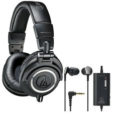 Audio-Technica ATH-M50X Studio Headphones + ATH-ANC23 In-Ear Headphone Bundle