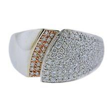 New Chimento 18k Gold Diamond Ring Size 7 Retail $6290
