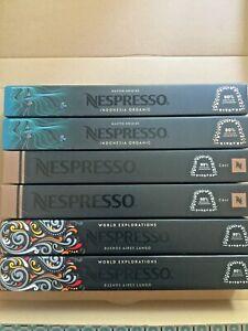 Nespresso Capsules de crus differents 6 paquets de 10 capsules neuves