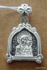 PLATA 282m Colgante Madre Dios KAZAN Consecrated the Relics San Jorge 8