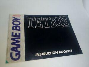 Tetris Instruction Booklet Only - Original Nintendo Game Boy Gameboy DMG Manual