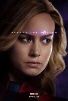 Avengers Endgame movie poster  - 11 x 17 inches - Captain Marvel, Brie Larson