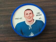 1961-62 Salada plastic coin # 45 Carl Brewer (B23) Toronto Maple Leafs
