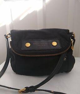 Marc Jacobs Black Nylon Crossbody Bag Purse