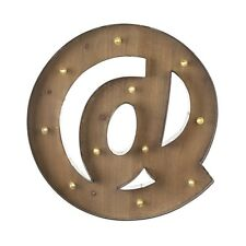 @ Vintage Large LED Light Up Carnival Letter Wood Metal Chic Shabby Sign Battery