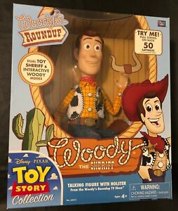 Thinkway Toys Toy Story Collection TALKING WOODY The Sheriff Figure SEALED