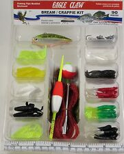 New Eagle Claw Bream/Crappie Kit w 90 Pieces - Hard To Find! Free Shipping!