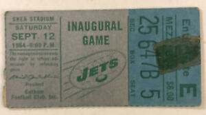 1964 New York Jets Inaugural Game Shea Stadium Ticket Stub