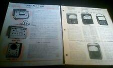 2 Triplett Test Equipment 1953 1956 Brochures Tube Oscilloscope Multi Generator