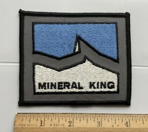 Mineral King Sequoia National Park California Souvenir Embroidered Patch Badge