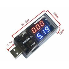 Red&Blue USB Charger Voltage Current Meter Handy Battery Tester Power Detector S