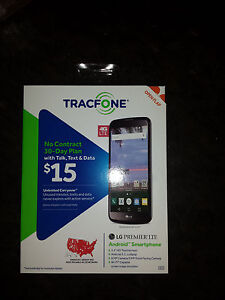 LG PREMIER cell Smartphone does not work with TRACFONE needs unlocking New
