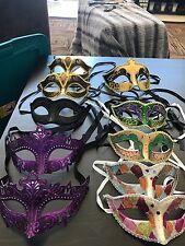 New Lot Of 10 Mardi Gras Masks