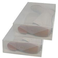 2x Cajas Almacenaje Botas PP384 Apilable Plegable Organizador Transparente
