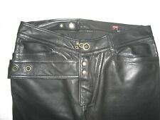 AWESOME Diesel Black Leather Biker Pants 32 NWD