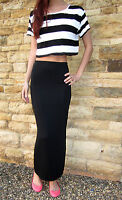 EXTRA LONG TALL Skirt Split MAXI Length Plain Print Size 8 10 12 14 16 18 20