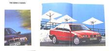 BMW 3 Series Saloon E36 1991 Original UK Brochure