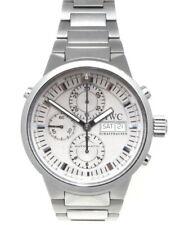 SS IWC Split Second Chronograph IW371508 Watch 43MM W/ Card