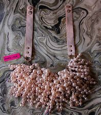 NWT BETSEY JOHNSON PINKTINA LIGHT PINK Pearl CLUSTER STATEMENT Necklace