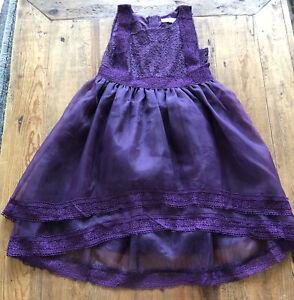 Trish Scully Child Dress Purple Delphine Holiday Lace Girls Size 7 PRETTY